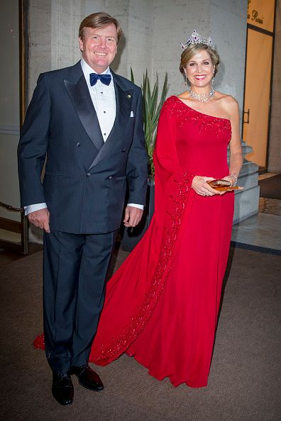 King Willem-Alexander of The Netherlands and Queen Maxima of The Netherlands attend the official state banquet presented by President Sergio Mattarella and his daughter Laura Mattarella at the Palazzo del Quirinale during the first day of a royal state visit to Italy at on June 20, 2017 in Rome, Italy.