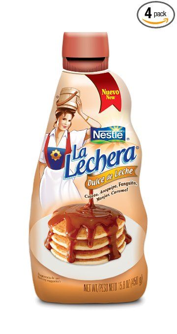 La Lachera Dulce De Leche, 15.8-Ounce Squeeze Bottles (Pack of 4). Great for holiday baking and desserts.