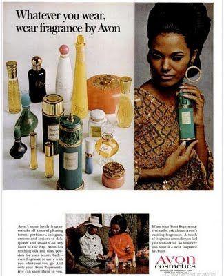 Vintage Avon ads from 1965-1968
