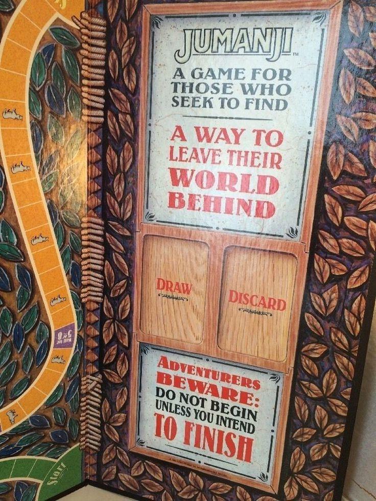 Jumanji Board Game Vintage 1995 Milton Bradley Complete Robin Williams Movie  #MiltonBradley