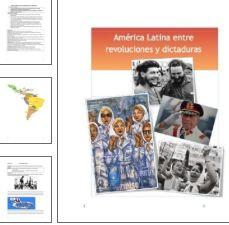 La clase de español como apoyo de la clase de historia. El tema es una introducción a la Revolución Cubana, a la lucha de clases, la Guerra Fría y las dictaduras en América Latina (torturas, derechos humanos, las madres de Plaza de Mayo...) Excelente para español avanzado y clases de historia biligues. Unidad completa de 4 semanas de duración. Compra ahora en: https://www.teacherspayteachers.com/Product/America-Latina-entre-las-revoluciones-y-las-dictaduras-1454453