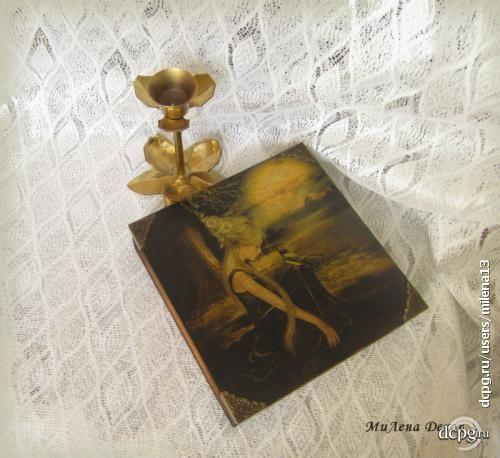 Шкатулка-купюрница «Зачарованная» http://dcpg.ru/blogs/15710/ Click on photo to see more! Нажмите на фото чтобы увидеть больше! decoupage art craft handmade home decor DIY do it yourself box