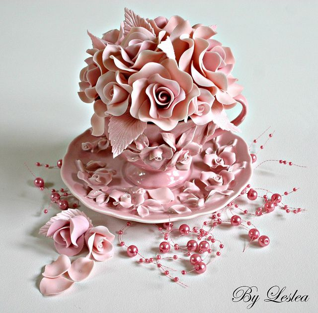 Now this is some fabulous cupcake!!: Minis Cakes, Teas Cups, Pastel Pink, Teacups Cupcakes, Rose Cupcake, Pink Cupcakes, Pink Rose, Cups Cakes, Rose Cakes