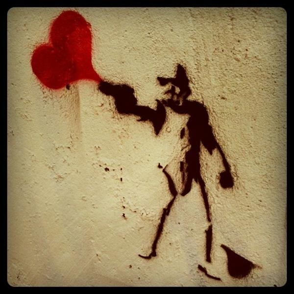 Trooper love street art graffiti banksy