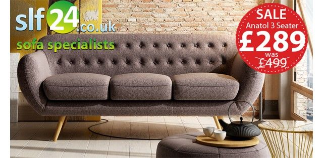 Anatol 3 Seater Retro Sofa