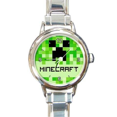 Minecraft Creeper Italian Charm Bracelet Wristwatch via Greatest Gift