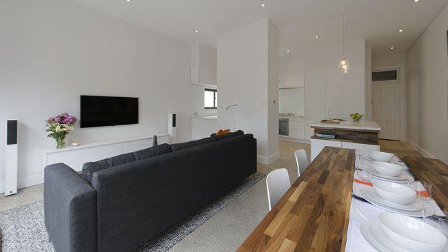 The Block | Living Area/ Study | Pinterest | Dan And Room