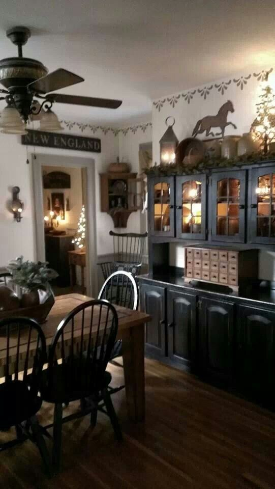 find this pin and more on primitive dining rooms - Country Dining Room Color Schemes