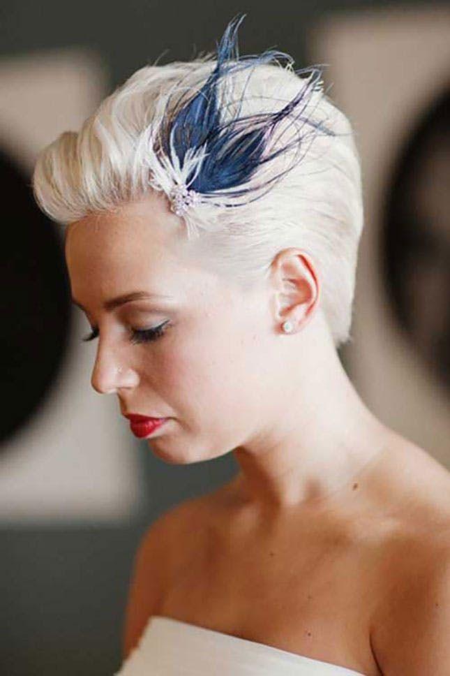 25 Wedding Hairstyles For Short Hair Short Wedding Hair Short Bridal Hair Short Hair Bride