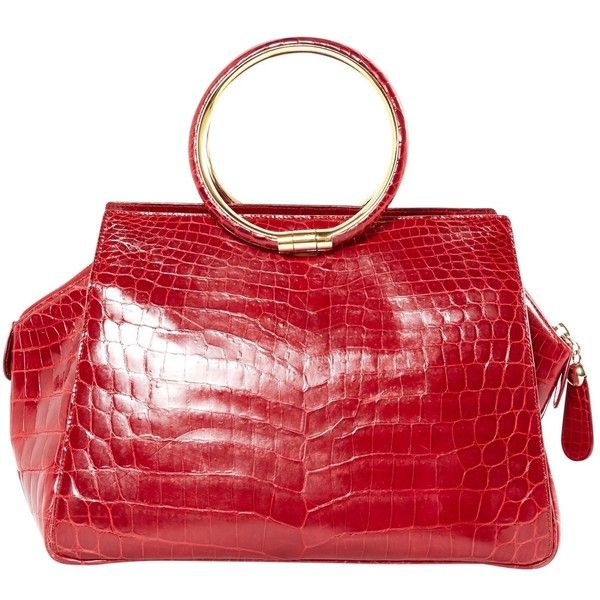 Pre-owned Dior Crocodile Handbag (18.462.305 IDR) ❤ liked on Polyvore featuring bags, handbags, red, preowned handbags, christian dior, christian dior purses, christian dior handbags and crocodile handbags