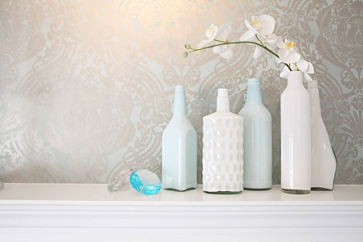 beach house in the city: painted bottles diy