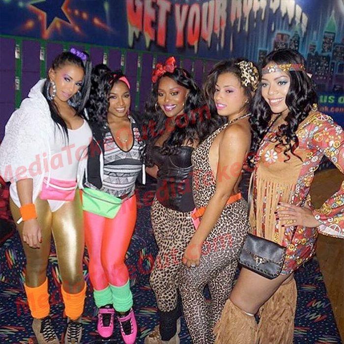 Toya Wright Threw A Birthday Halloween Party Last Night In Atlanta Most Of Came Out Including Kandi Burress Fabolous Rasheeda And Reginae