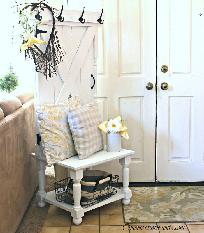 Farmhouse Hall Tree:The Fab Furniture Flippin' Contest