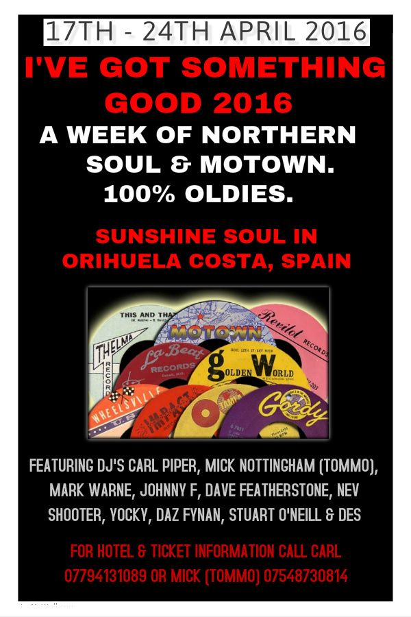 After the huge success of the first anniversary, the guys are back to celebrate their 2nd anniversary Northern Soul week from the 17th April til 24th April 2016. #northernsoul #motown #tamlamotown