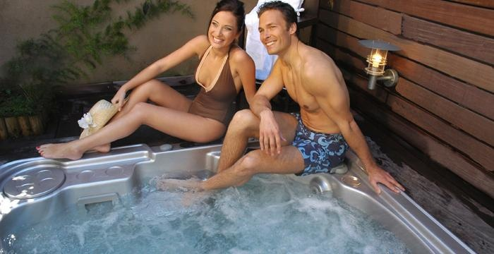 Your own private spa helps you spend quality time together...