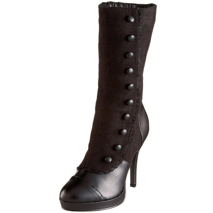 Ladies Victorian Boots & Shoes  Womens Splendor-130 Mid-Calf Boot $45.96 AT vintagedancer.com