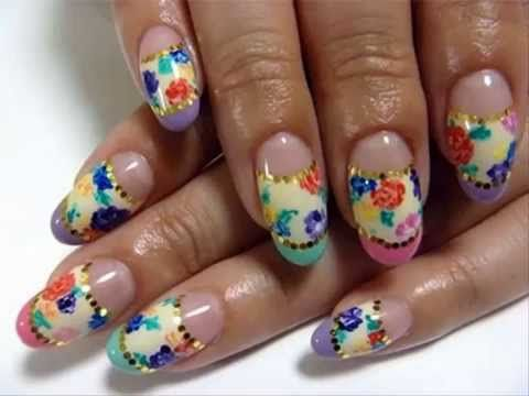 White Pink Long Acrylic Gel Designs Polish Shellac Nails At Home Ideas    Http:/