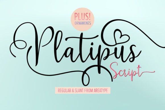 Platipus Font By Area Type Creative Fabrica In 2020 Free Script Fonts Lettering Script