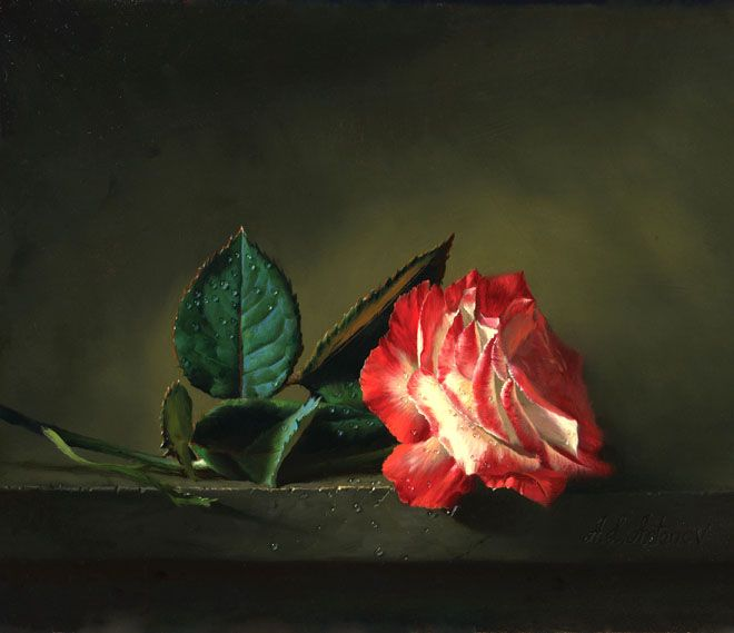 40 Beautiful and Realistic Flower Paintings for your ...