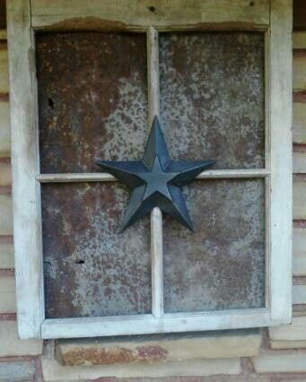 OLD RUSTY  TIN & WINDOW