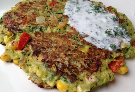 How to Make Wasabi Vegetable Pancakes & a Dill Yogurt Sauce | Recipe