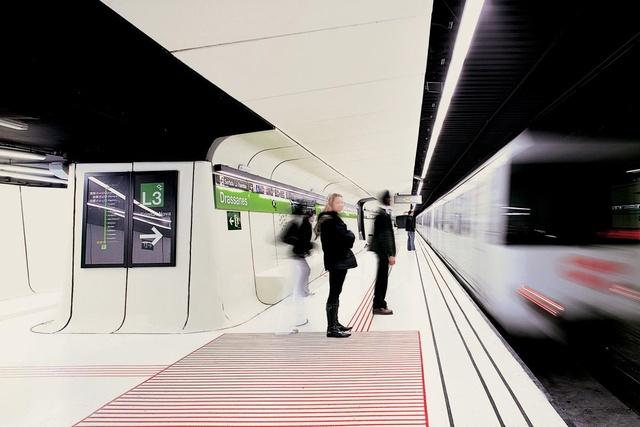 Drassanes Station, Barcelona, Spain
