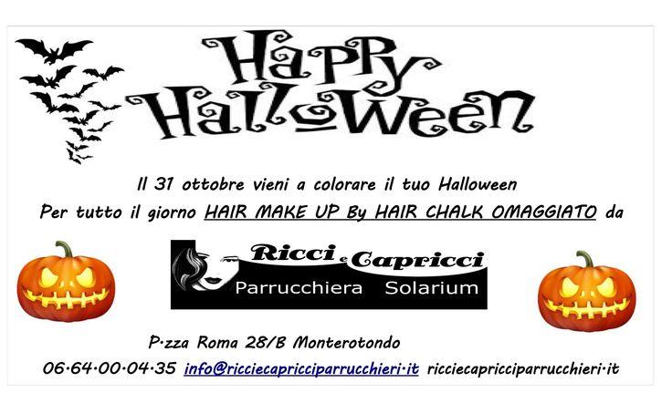 Happy Halloween... Il 31 Ottobre passa in salone dalle 8:00 alle 20:00, saremo felici di colorare il tuo Halloween con un servizio di Hair Make-Up completamente gratuito e terrificante, realizzato con Hair Chalk, la nuova colorazione temporanea di L'Oreal Professionnel. Ti Aspettiamo!
