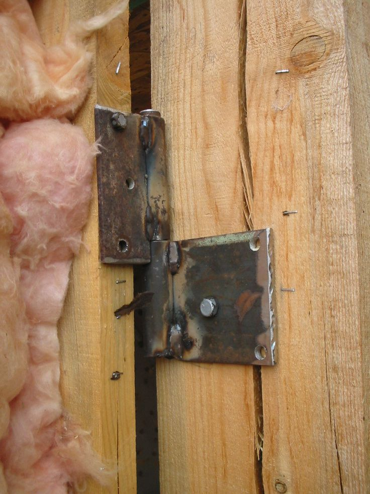 Homemade hinges for large room at the barn. More barn pics at the link