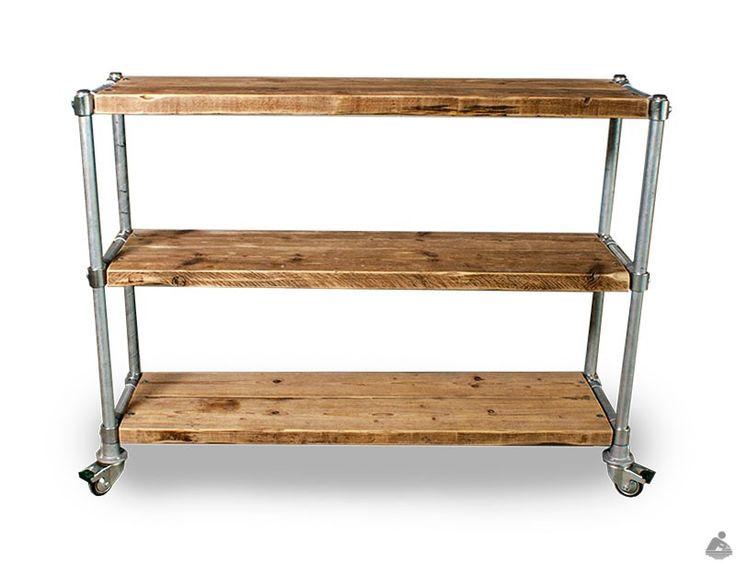 Sloophouten Steigerbuis Boekenkast - Multifunctionele, robuuste en stoere opbergkast van Van Abbevé. Gemaakt van sloophout en steigerbuis. Te gebruiken als ordnerkast, boekenkast, opbergmeubel of roomdivider.