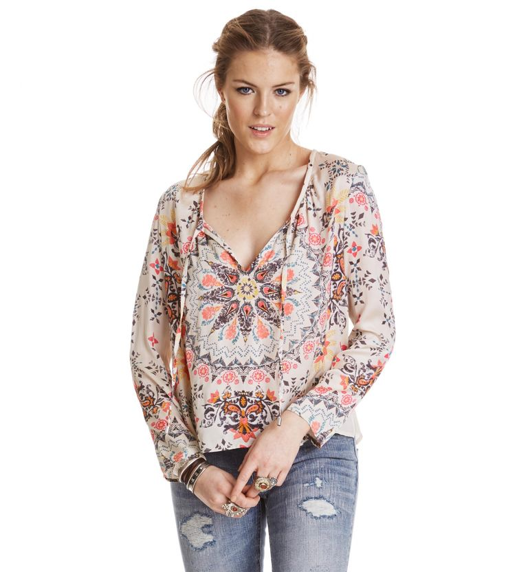Knock-Out Blouse Multi Pink