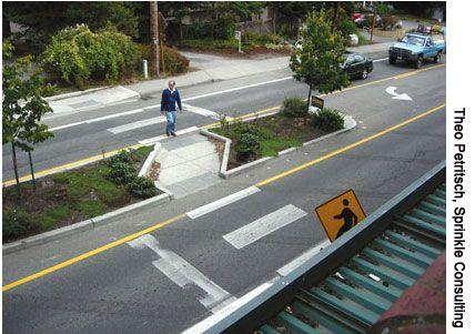 Habitar. Diseño urbanístico. Satisface la necesidad de cruzar la calle de una forma segura.