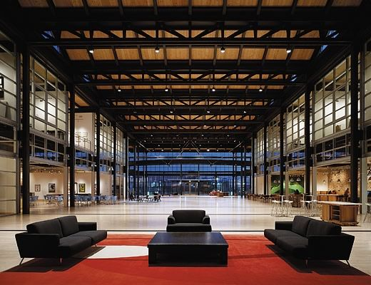 "Steve Jobs: ""If a building doesn't encourage [collaboration], you'll lose a lot of innovation and the magic that's sparked by serendipity. So we designed the building to make people get out of their offices and mingle in the central atrium with people they might not otherwise see."""