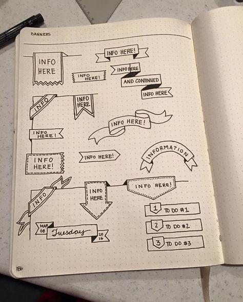 Bullet Journal Flag Ideas