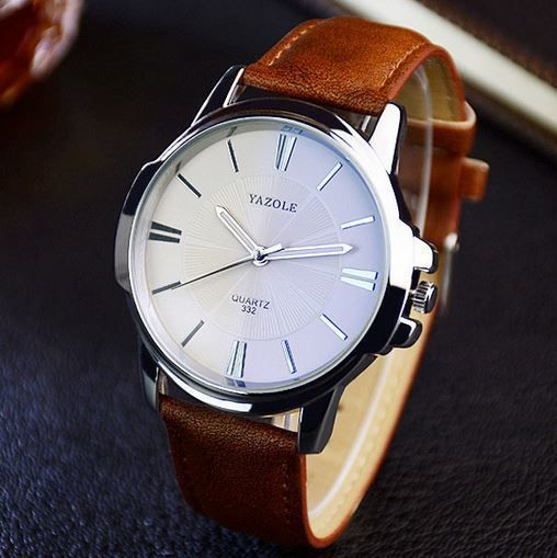 Classic Leather white watch for Men Share with love more : https://mabshop.com