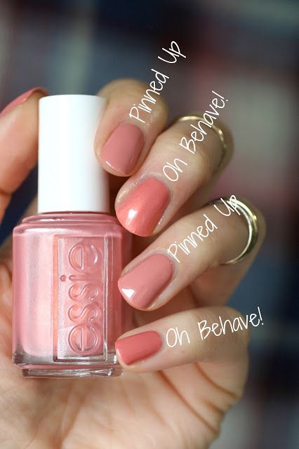 Essie Winter 2016 - Oh Behave! Comparisons | Essie Envy