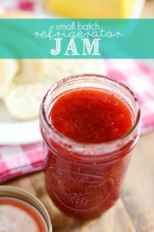 Small Batch Refrigerator (or Freezer) Jam - Gotta try this with raspberries