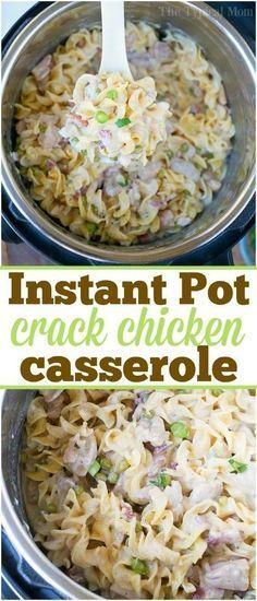 Dieser Instant Pot Crack Chicken Casserole ist einer der …