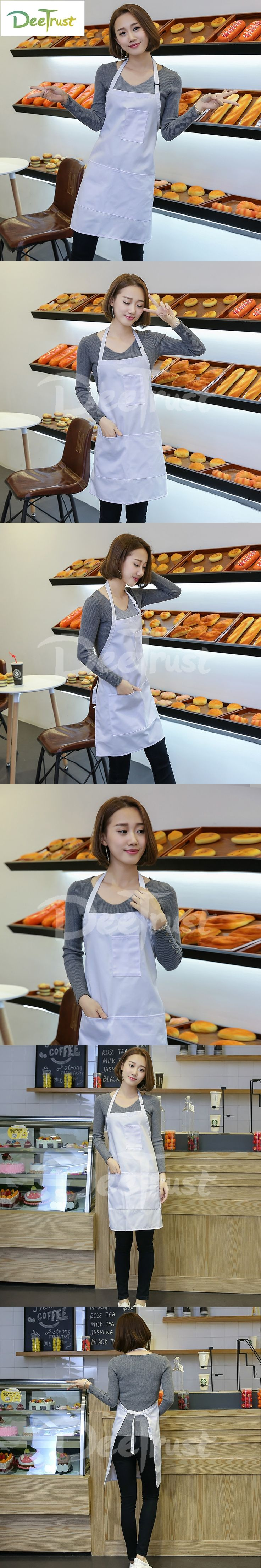 2017 PVC Apron Solid Color Detachable Antifouling Sleeveless Unisex Aprons for Woman Men Kitchen Chef Cooking avental