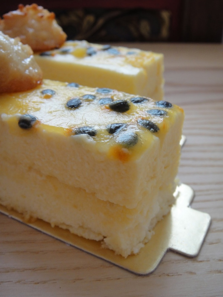 Souffle Cheesecake and White Chocolate Passionfruit Mousse Entremet