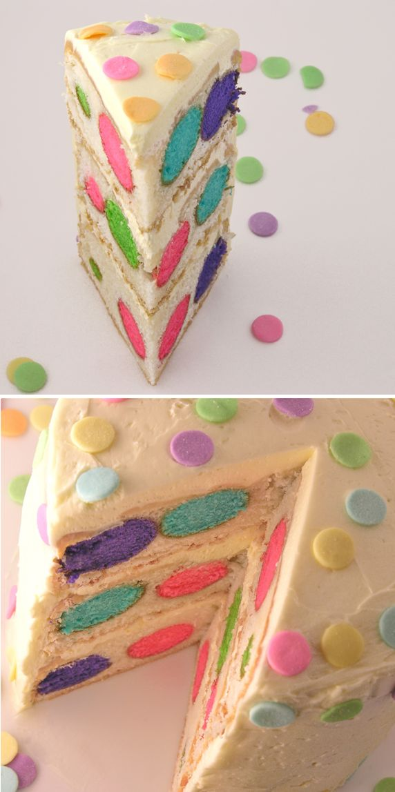 Colorful Polka Dotted Cake Recipe | Birthday Cake, Colorful Cakes, Patterned Cakes | Beautiful Cake Pictures