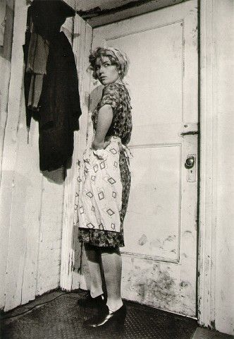 """Cindy Sherman """"Untitled Film Stills"""". Notice the simple composition and the camera angle. Experiment with black and white, and try to age your photographs."""
