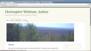 Author Christopher Whittum built his Web site with WordPress.