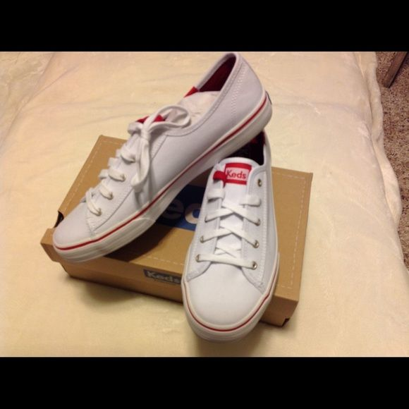 red and white keds shoes