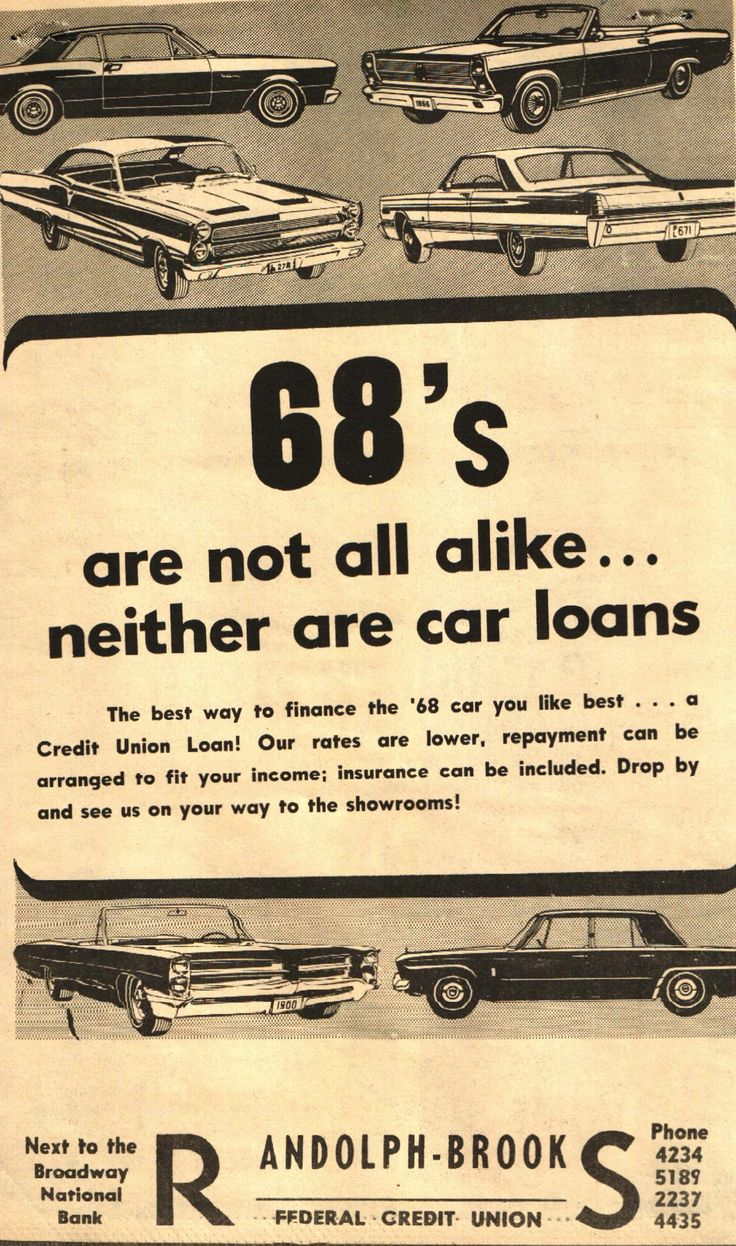 68 s are not all alike neither are car loans a classic
