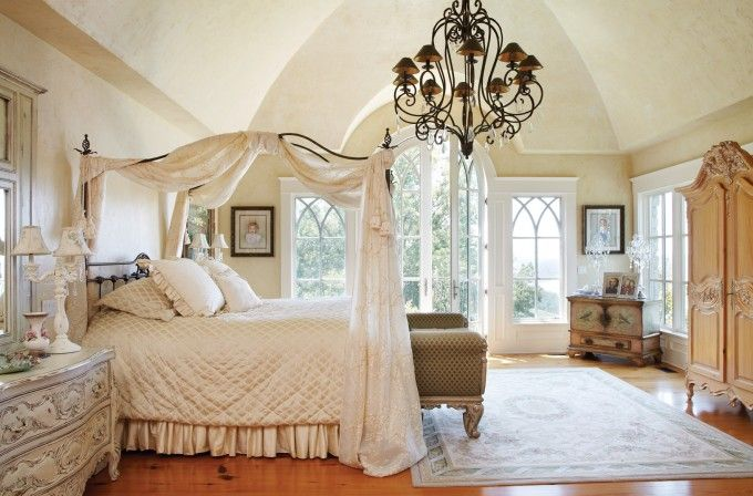 Faux Finished Walls For Bedroom With Canopy Bed And Groin Vault Ceiling Also Iron Canopy Bed With Bedding And Canopy Bed Drapes Plus Armoire With Area Rug And Nightstand With Bedroom Bench