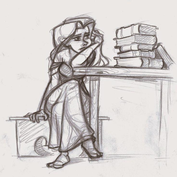 Mia, bored of the books. (Sorceress in training) threefootgiraffe.blogspot.co.nz