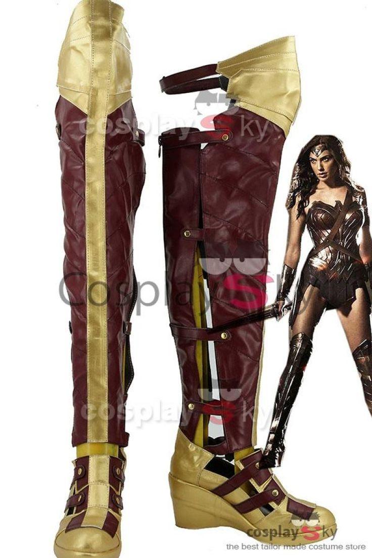 Batman v SupermanDawn of Justice Wonder Woman Cosplay Shoes_2