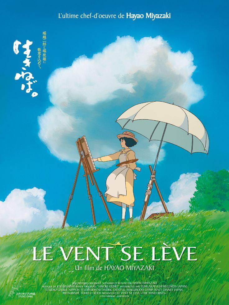 Le Vent se lève est un film de Hayao Miyazaki avec Steve Albert, Hideaki Anno. Synopsis : Inspiré par le fameux concepteur d'avions Giovanni Caproni, Jiro rêve de voler et de dessiner de magnifiques avions. M