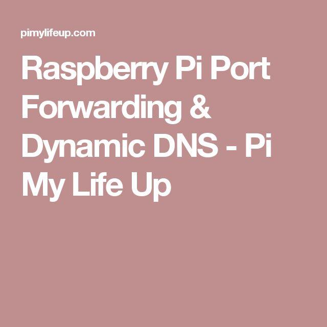 Raspberry Pi Port Forwarding & Dynamic DNS - Pi My Life Up
