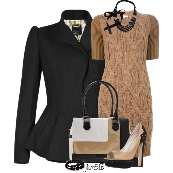 """Black and Tan 2"" by jliz516 on Polyvore"